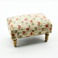 Traditional Tapestry Fabric Footstool